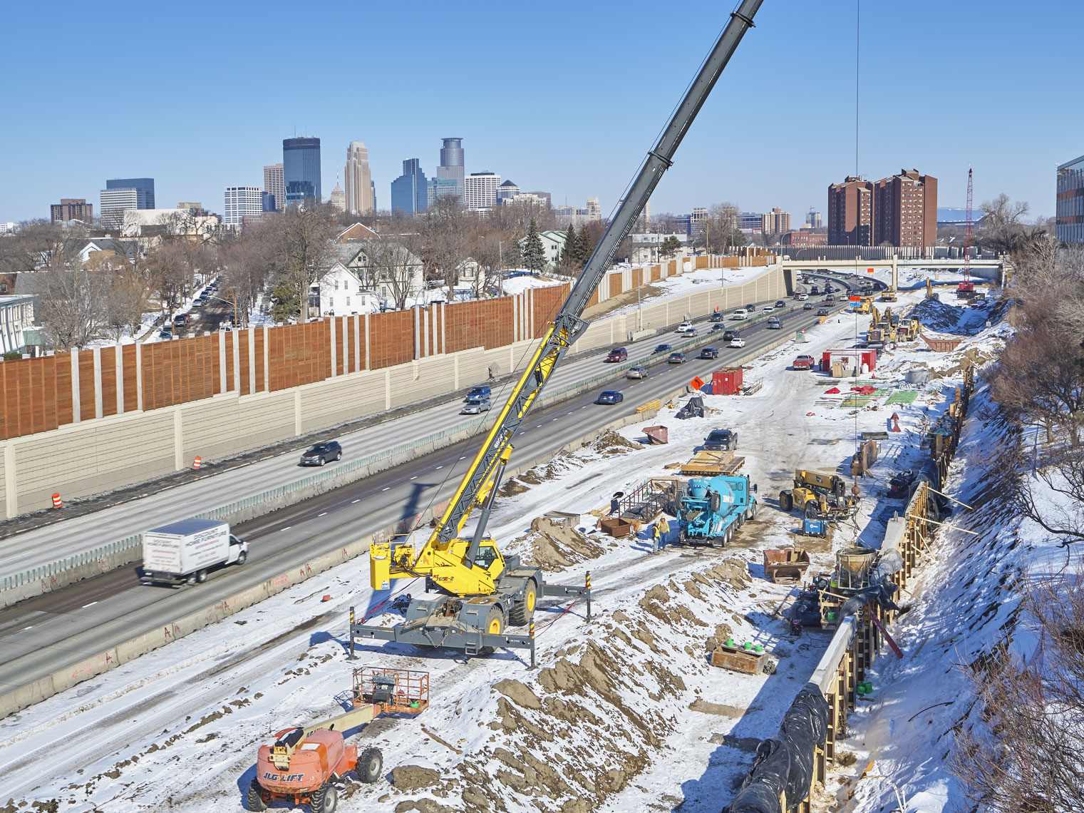 35w/Minneapolis/road construction/industrial photography/InsideOut Studios