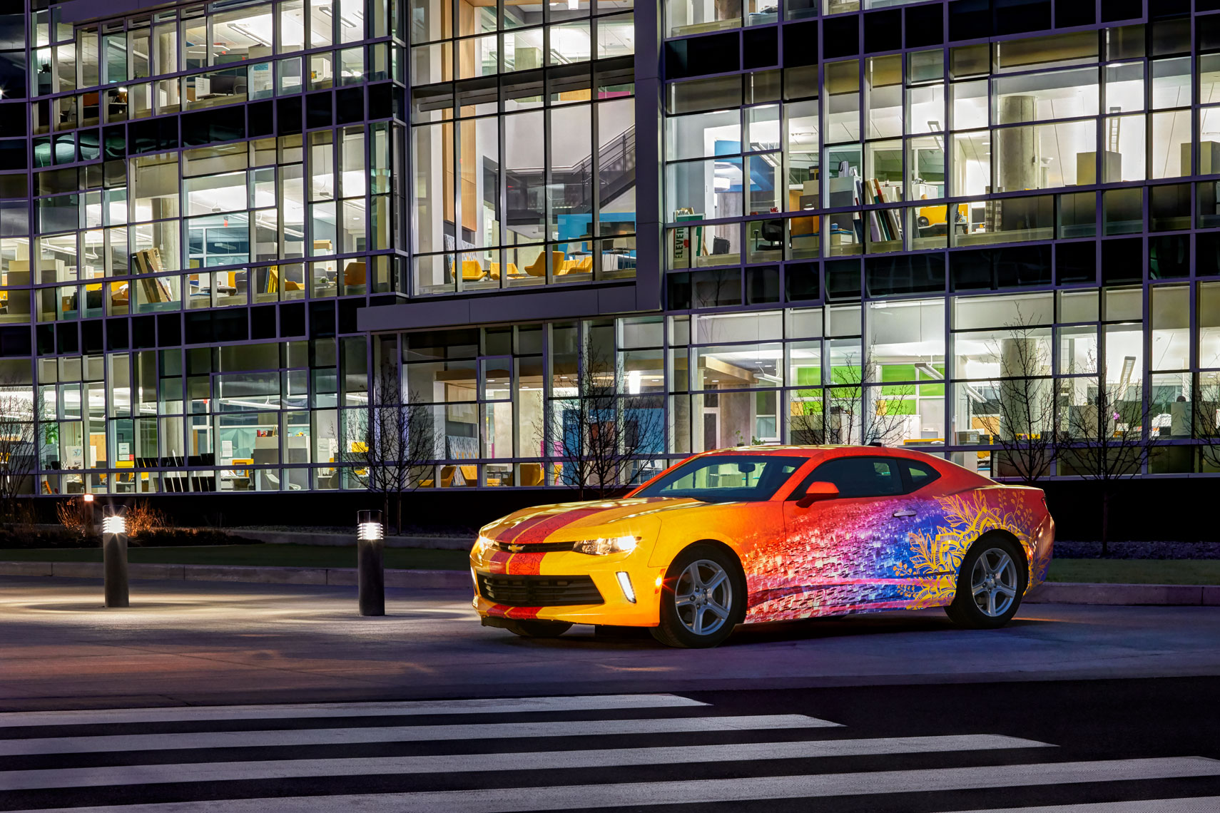 3M Reflective Wraps/Camero/corporate building/architectural photo