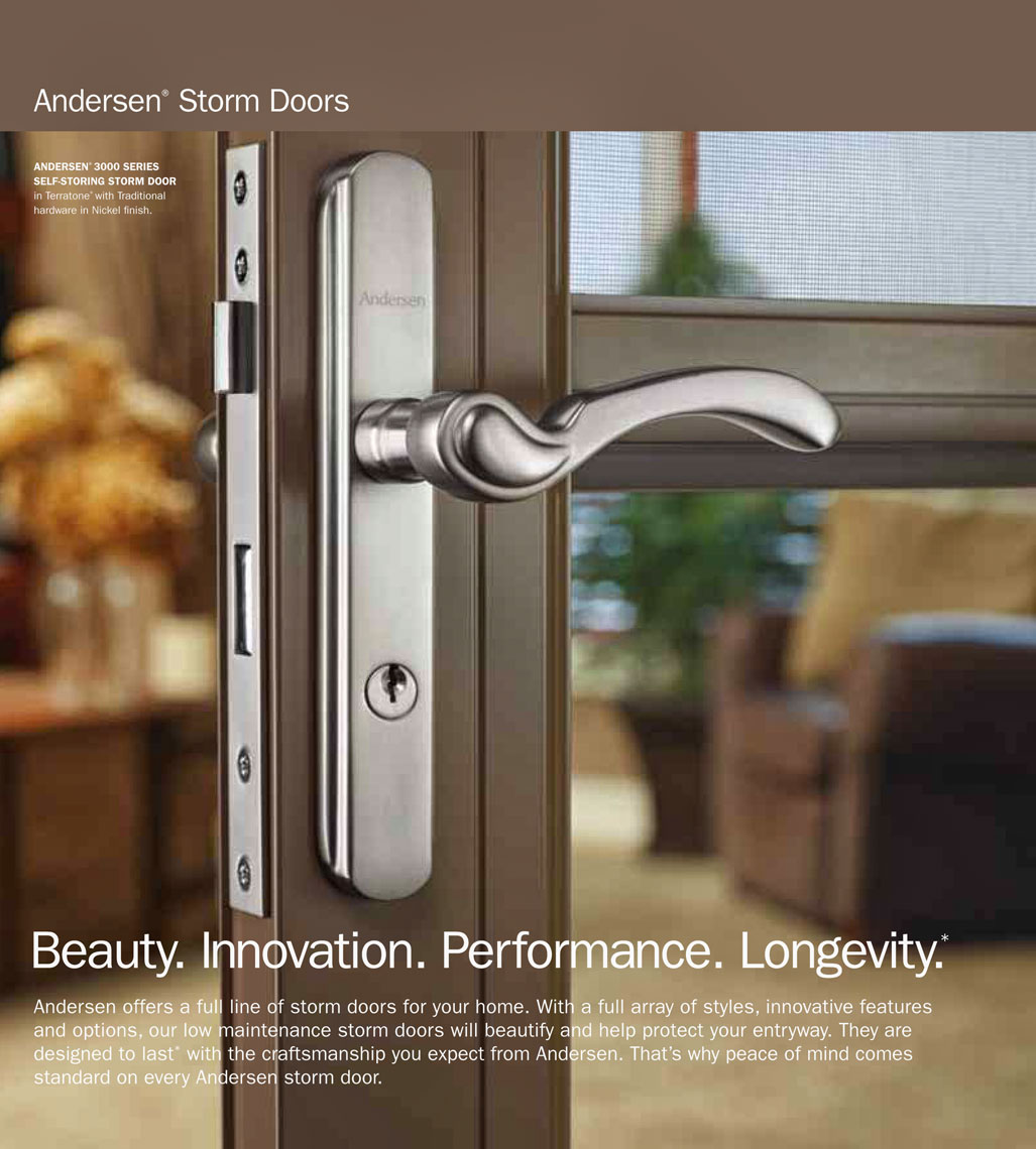 Anderson storm door handle/product photography