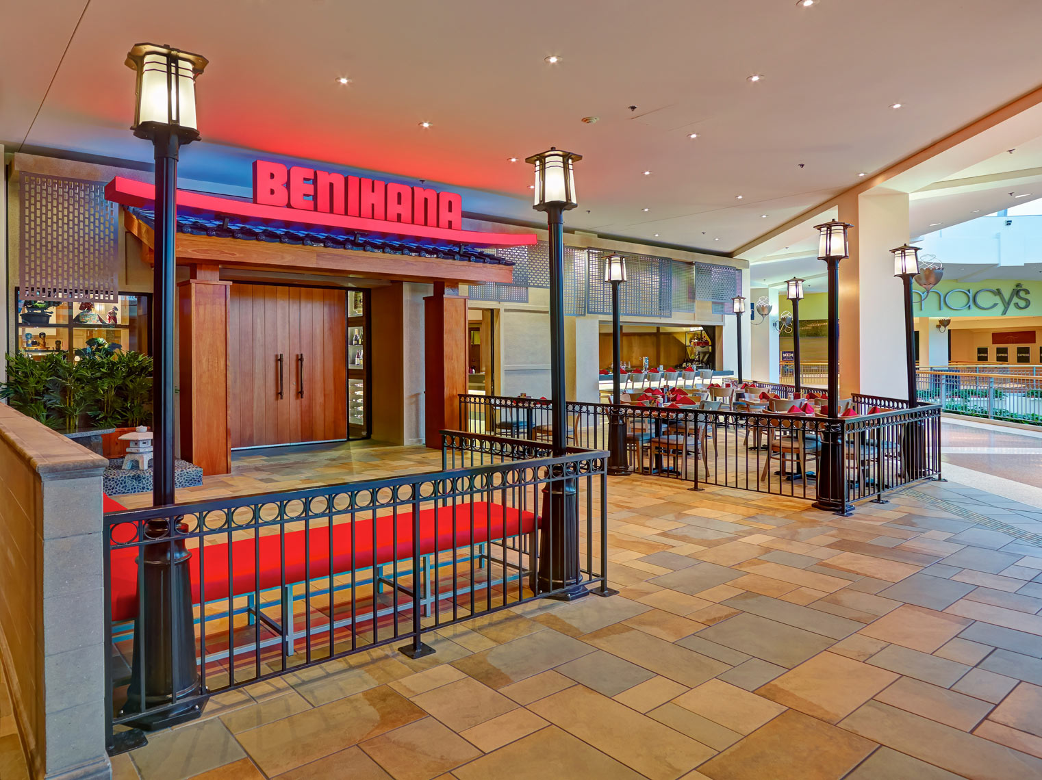 Benihana Restauraunt front/inside MOA/tile floor/architectural photo