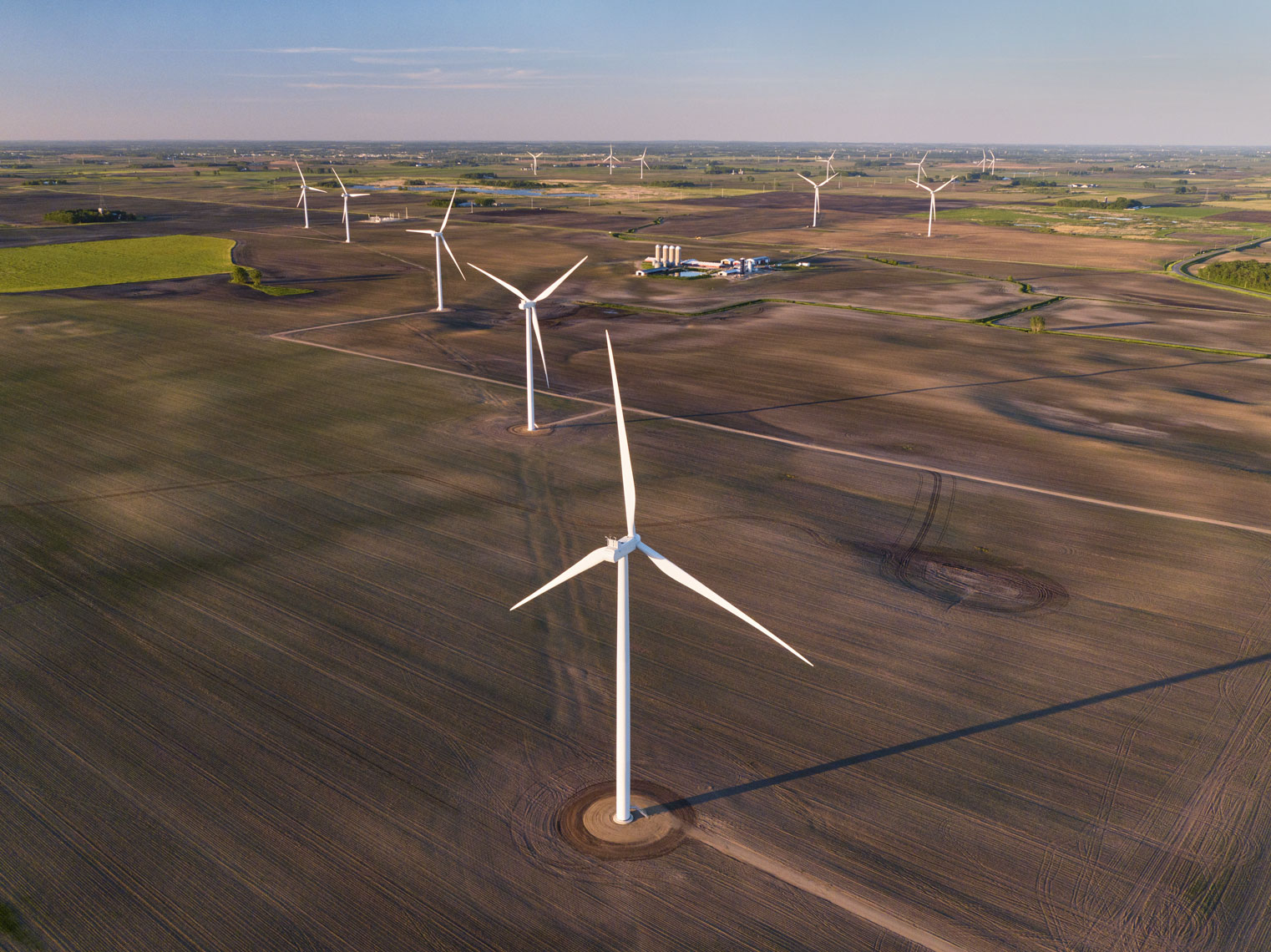 Windmills/group/green energy/arial drone photography