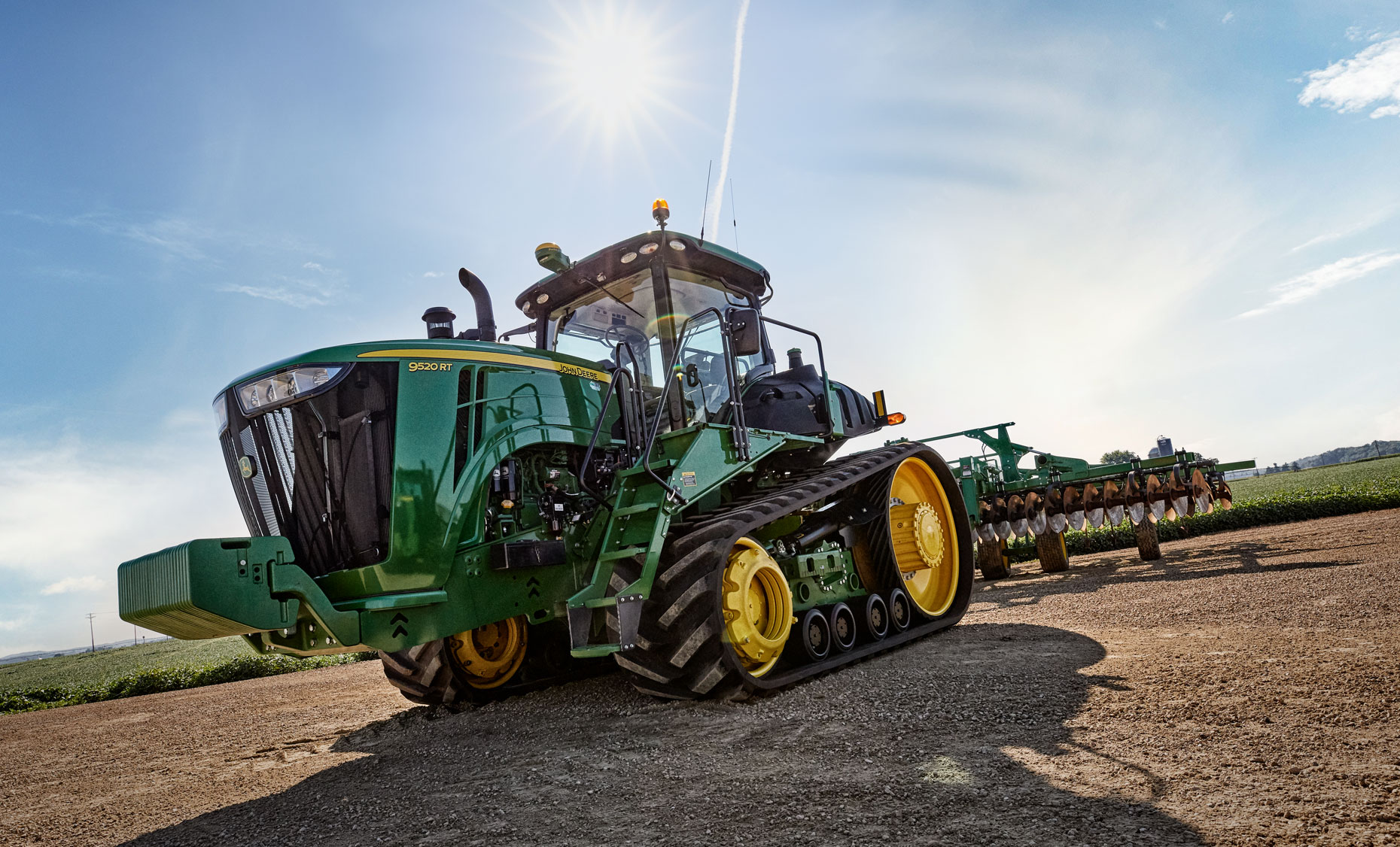 Bremer Bank/tractor/farm field/agriculture photography