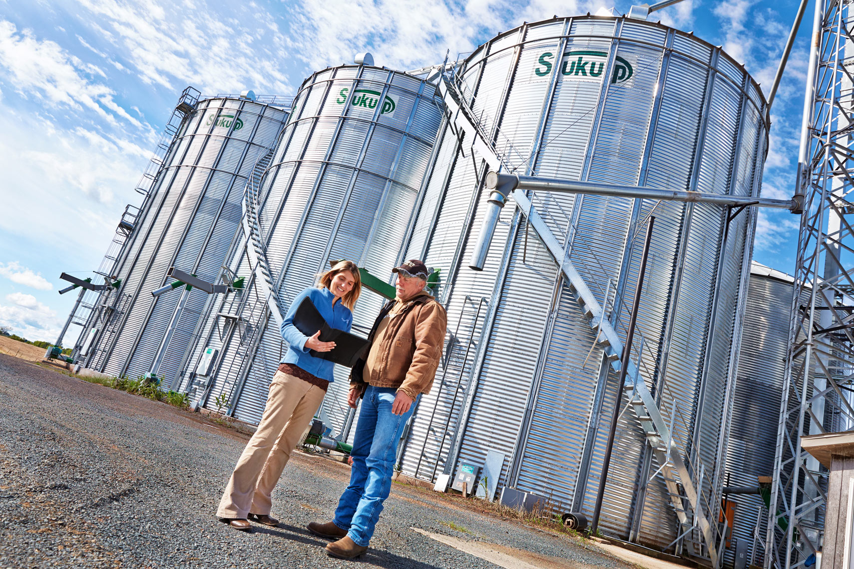Bremer Bank/farmland/Silos/banker, farme/lifestyle people photo