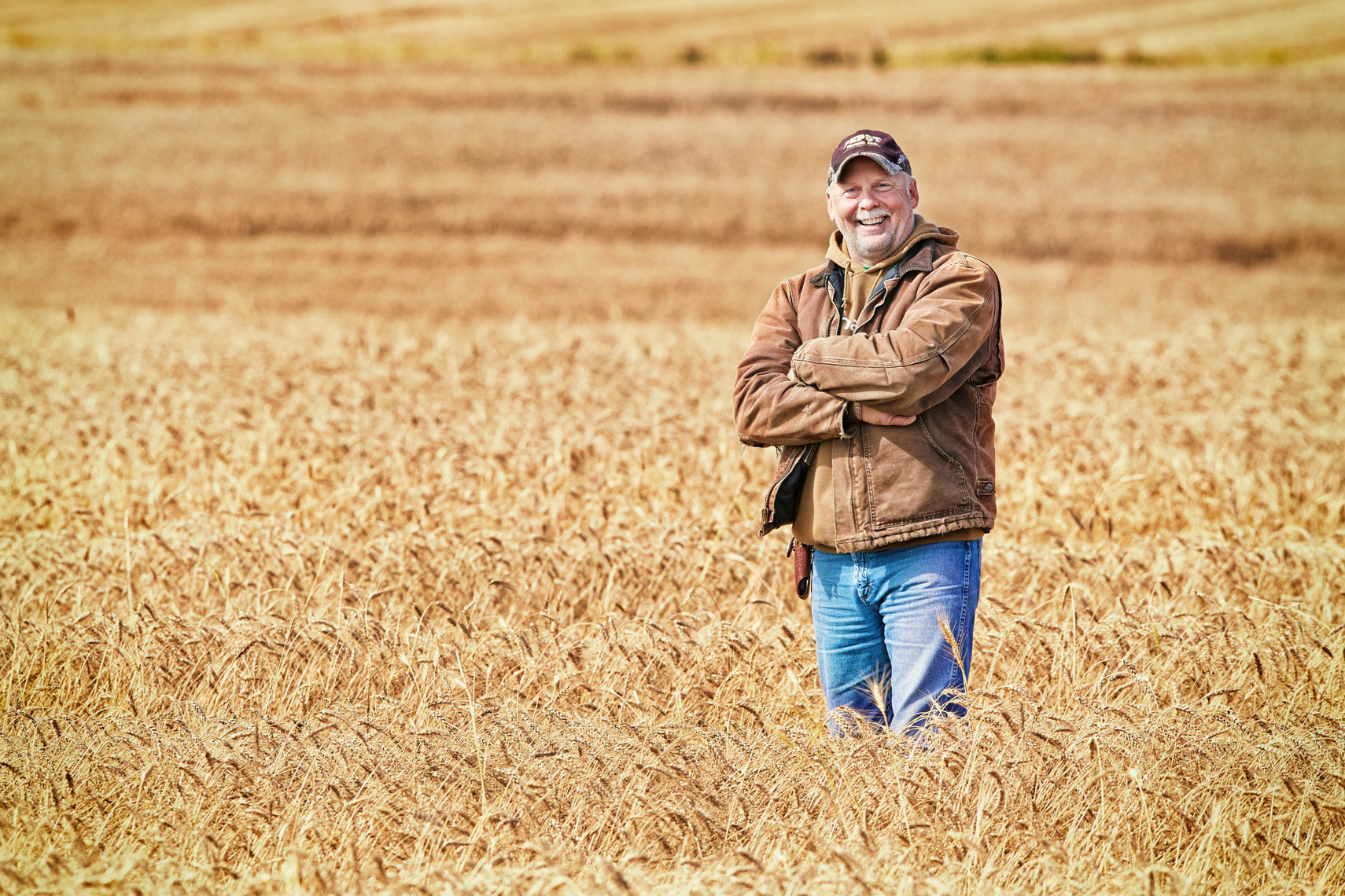 Bremer Bank/Farmer in wheat field/agriculture photography