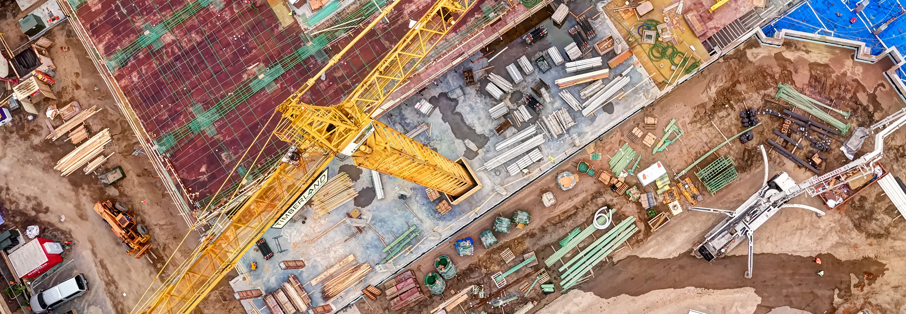 Construction site/drone/crane/dynamic/location photography