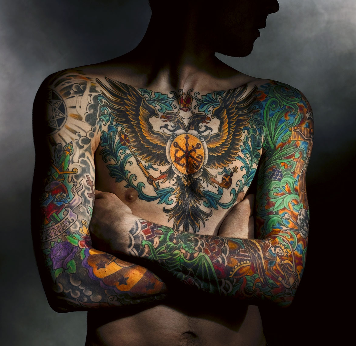 Tattoo chest/male/InsideOut Studios