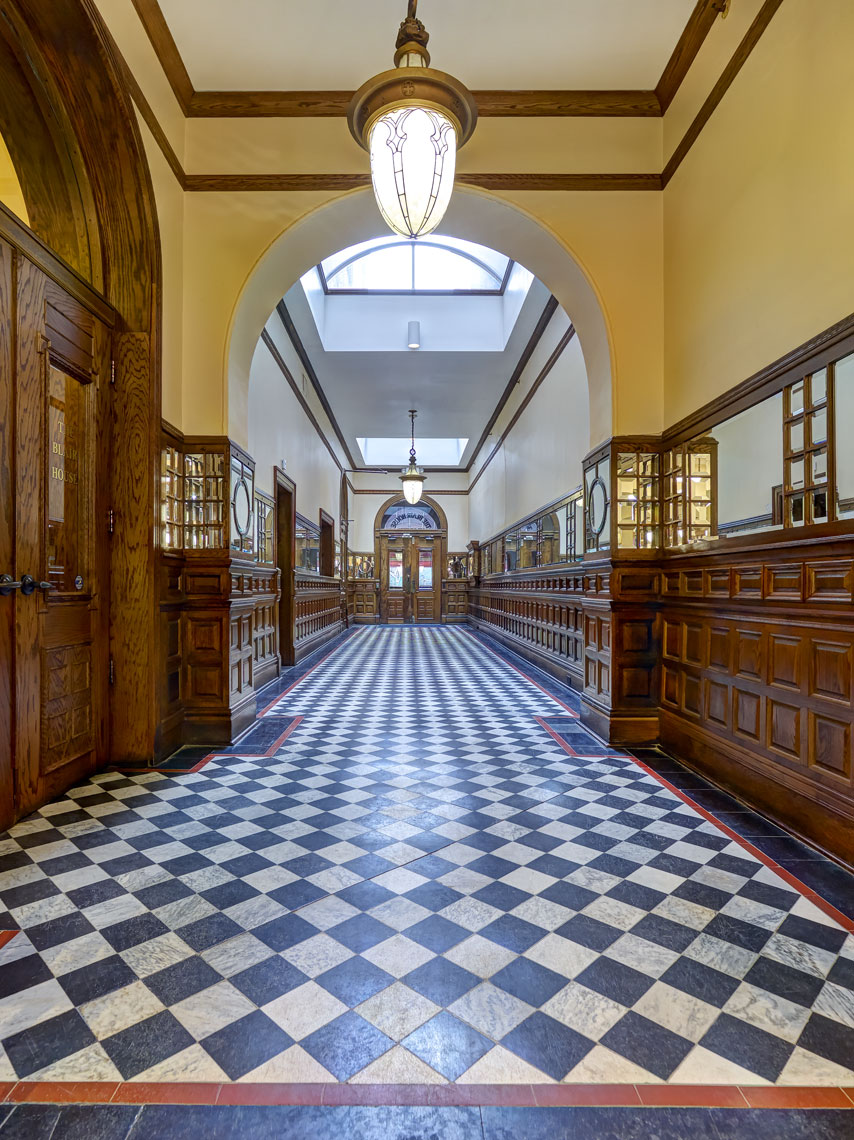 Blair/ornate hallway/interior architectural photography