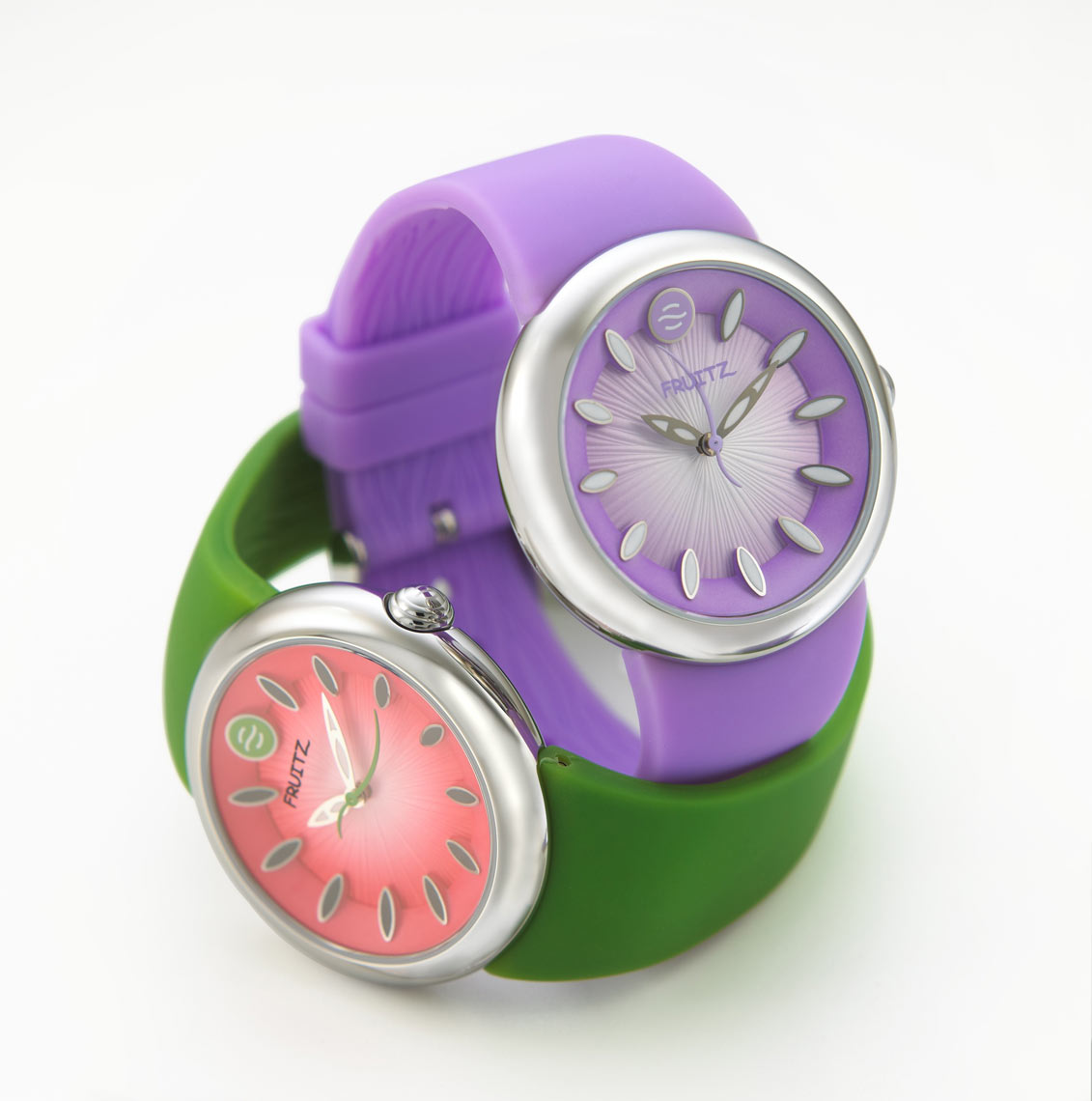 Fruitz-Watches/purple,green/product photography