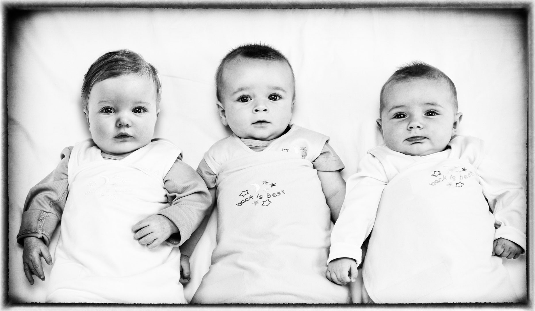 Halo/babies in a row/laying down/lifestyle photography