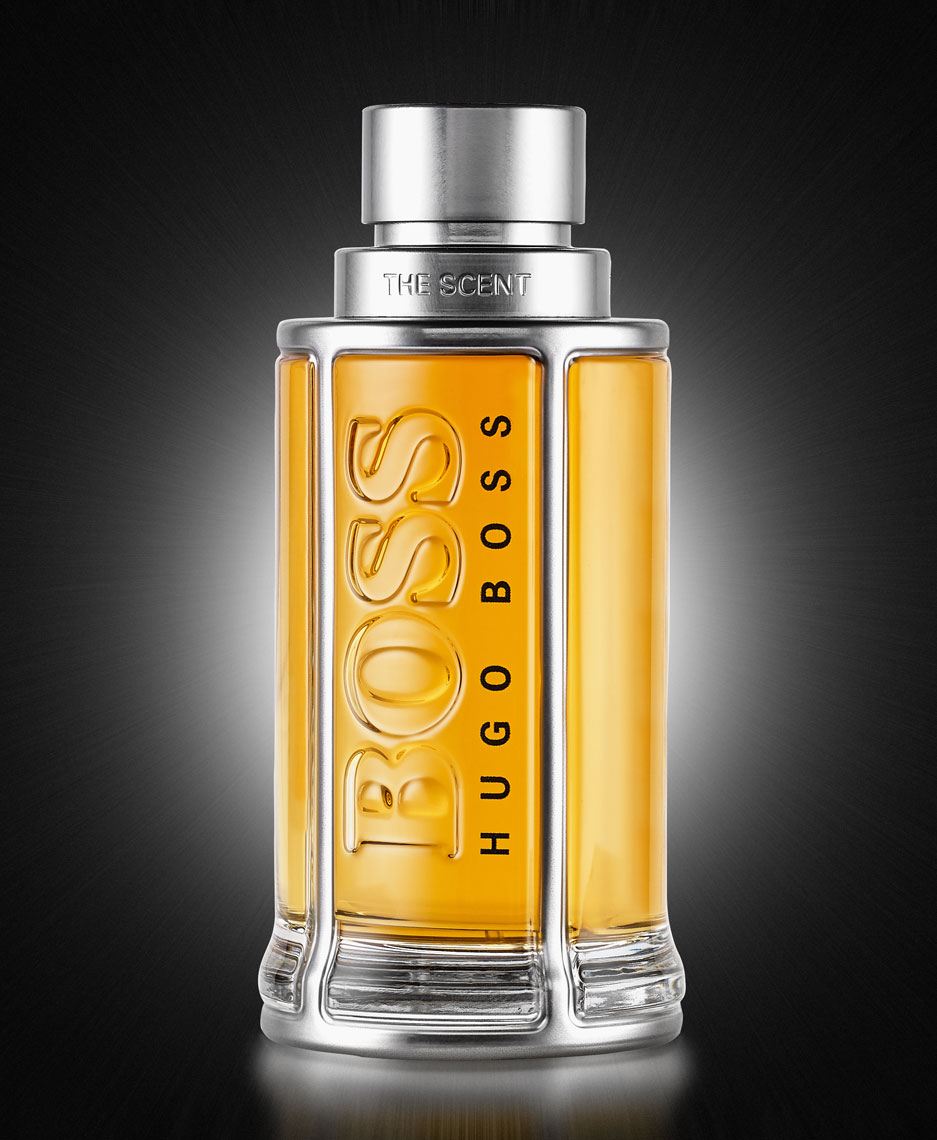 Hugo Boss/cologne/black background/product photography