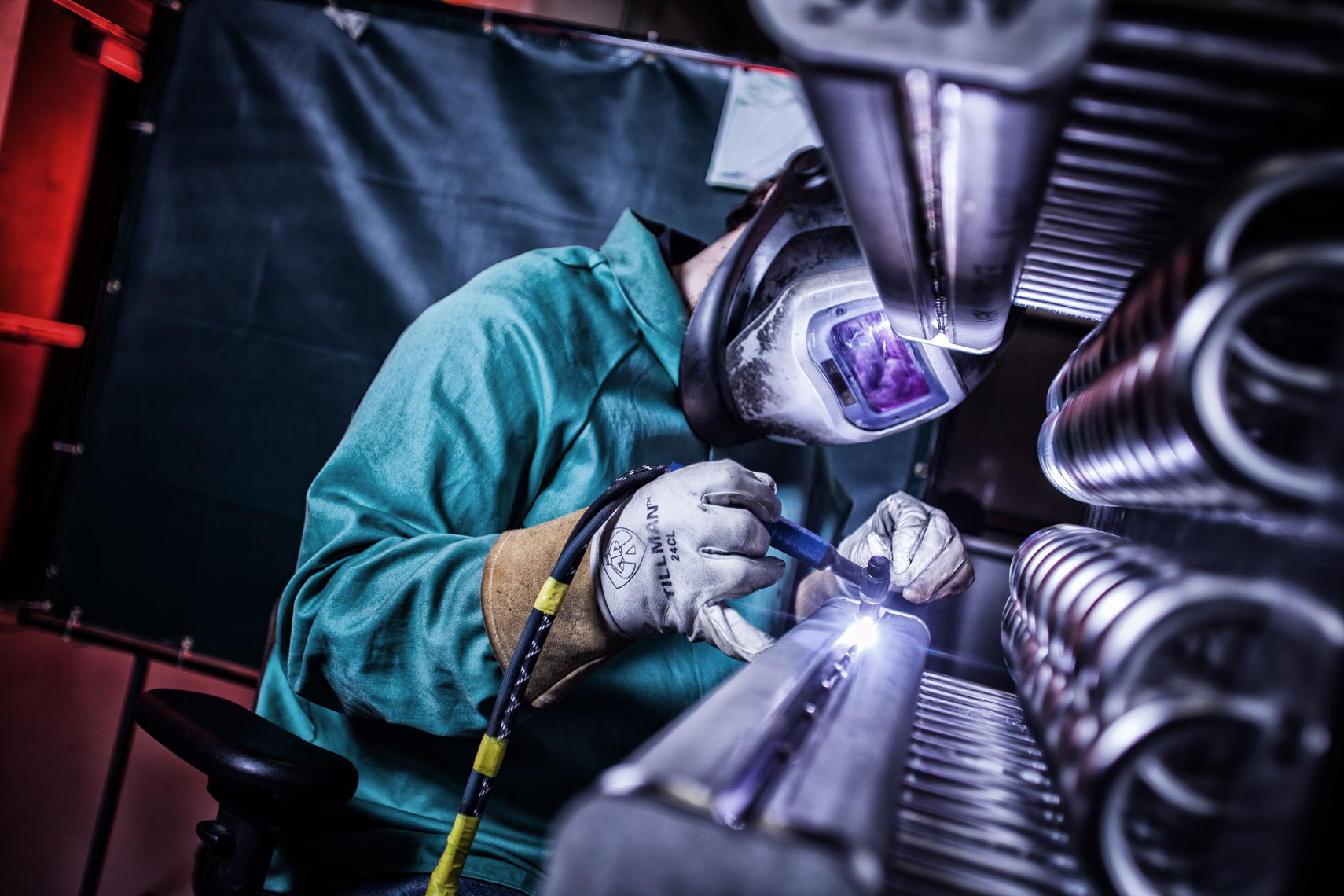 Welding/Speedglass/coils/manufacturing photography
