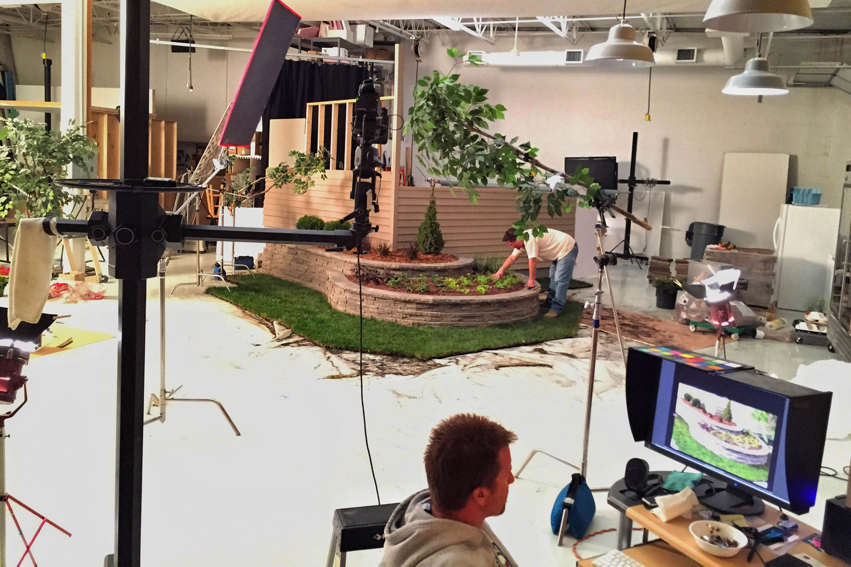 Anchor Block studio set/in studio set photography/bts/client plants