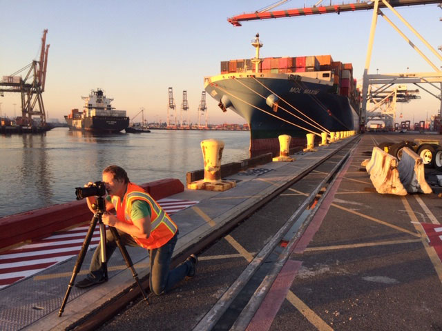Container shipping yard/bts/photo shoot