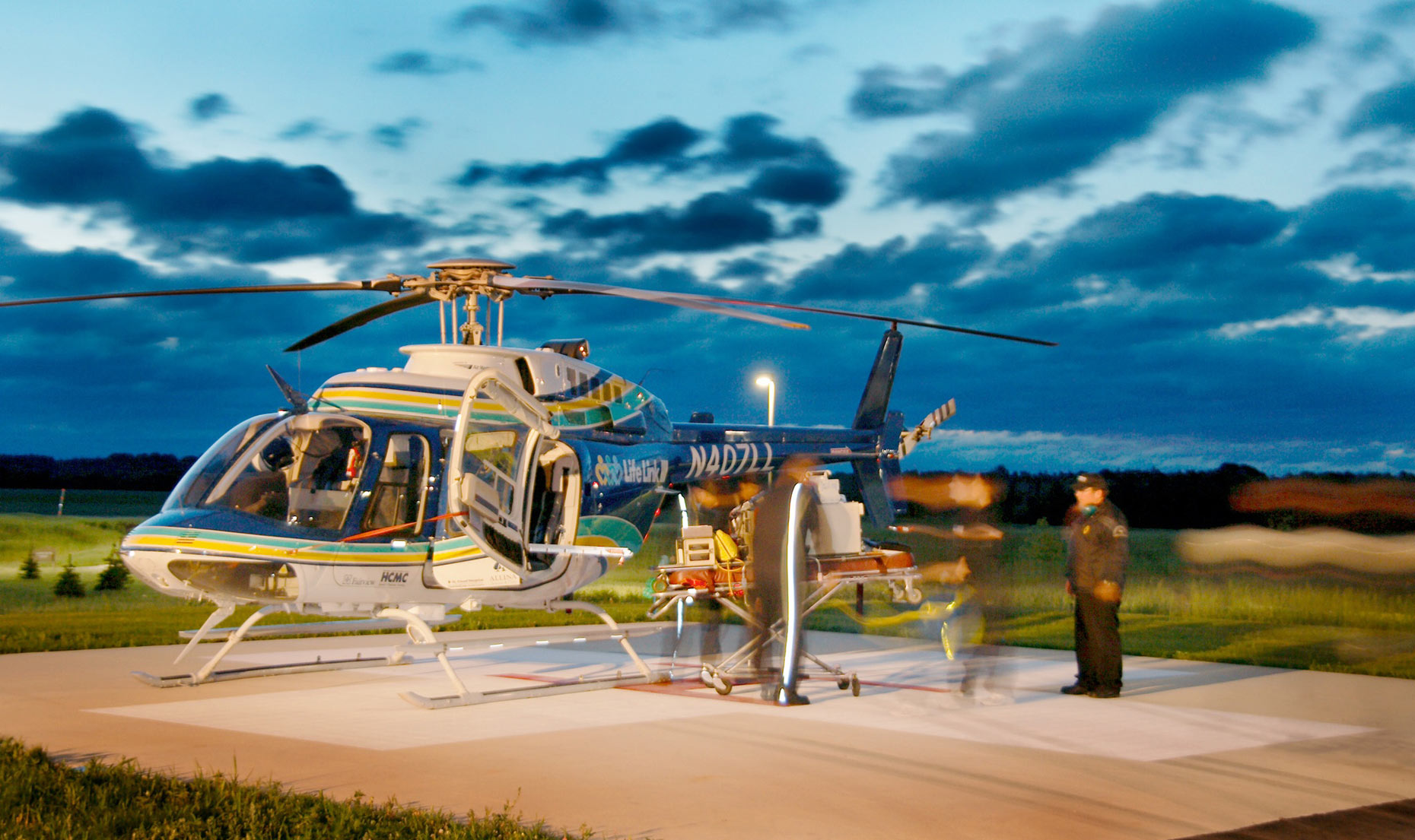 LifeLink helicopter/landing pad/location photography
