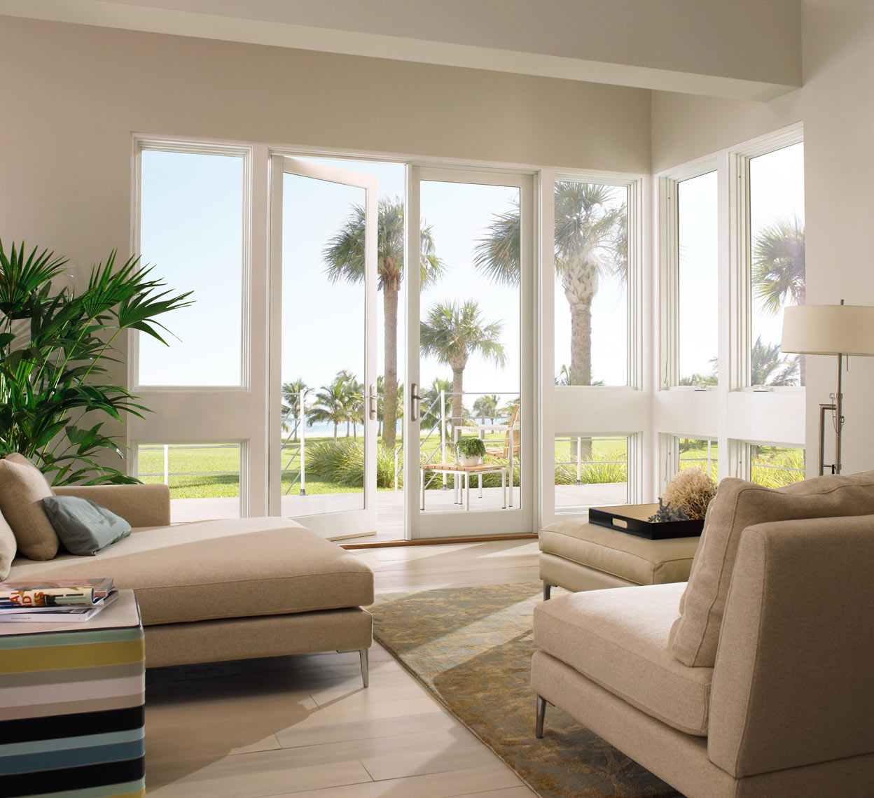 Beachhouse/Florida/white french door/Marvin Windows/studio set photography
