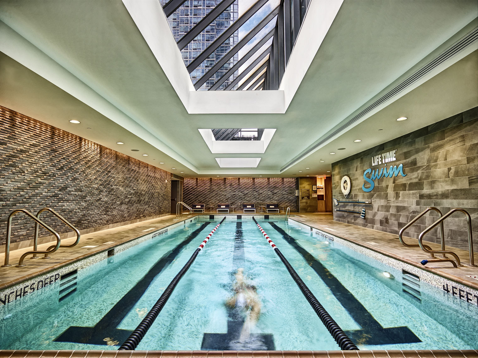 LifeTime Fitness/lap pool/architectural photography