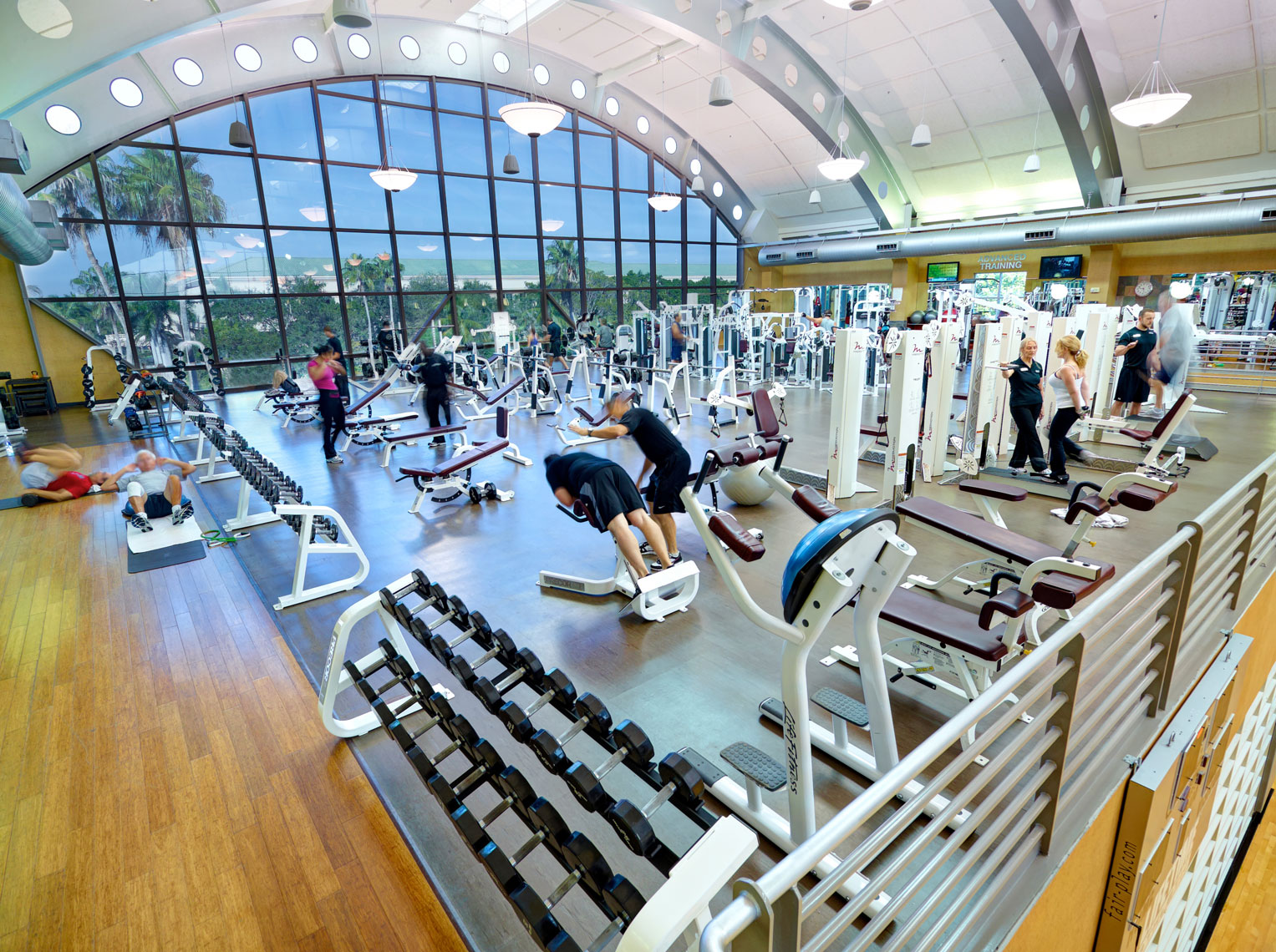 Life Time Fitness weight room/weight equiptment/architectural photo