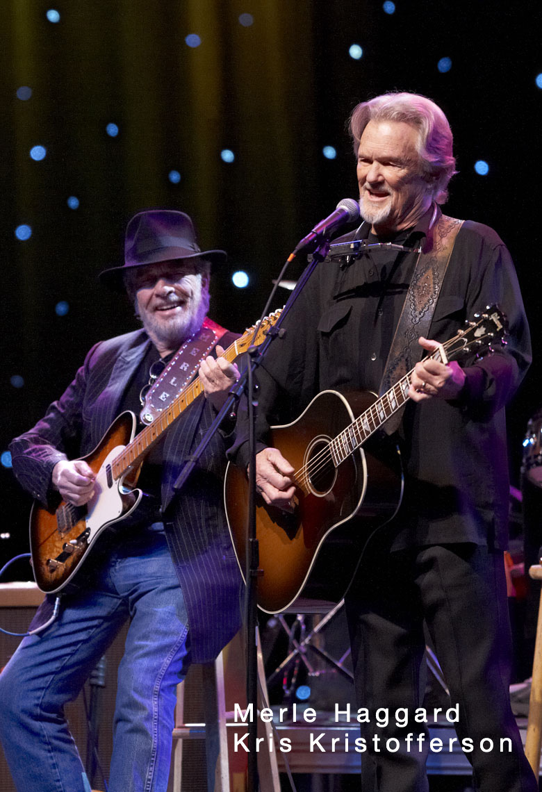 Merle Haggard/Kris Kristofferson/Mystic Lake Casino/lifestyle photo