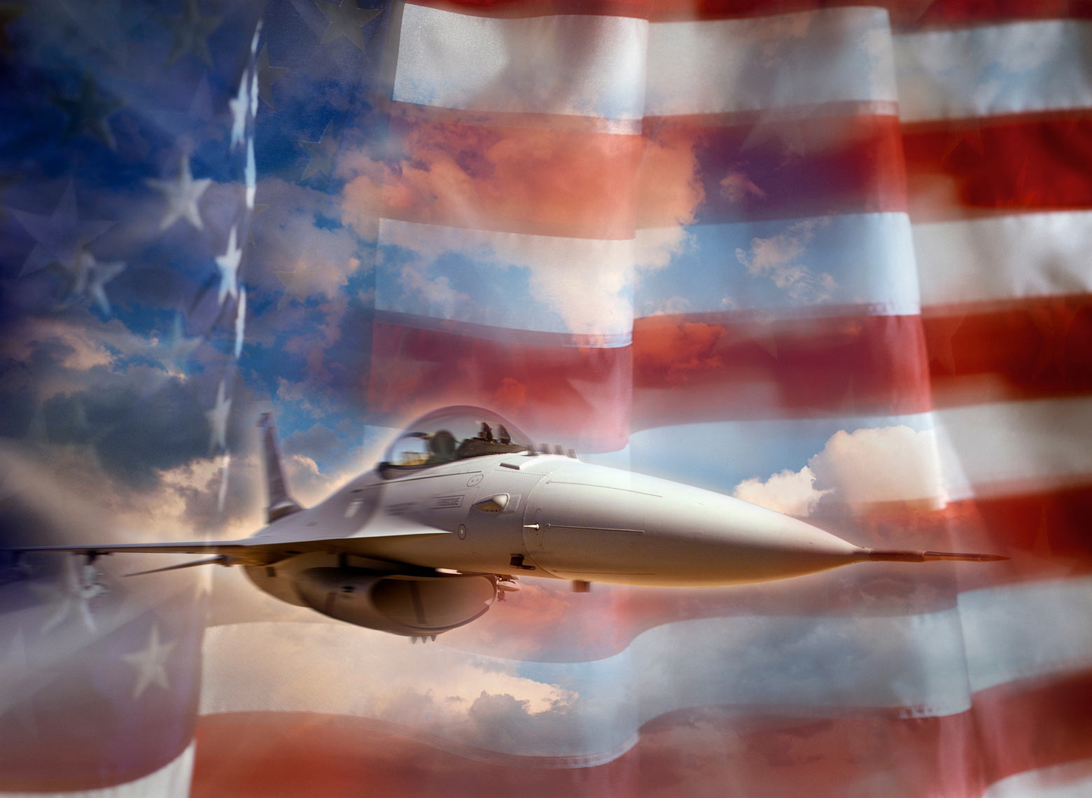 USA/fighter jet/US flag behind/aviation photography