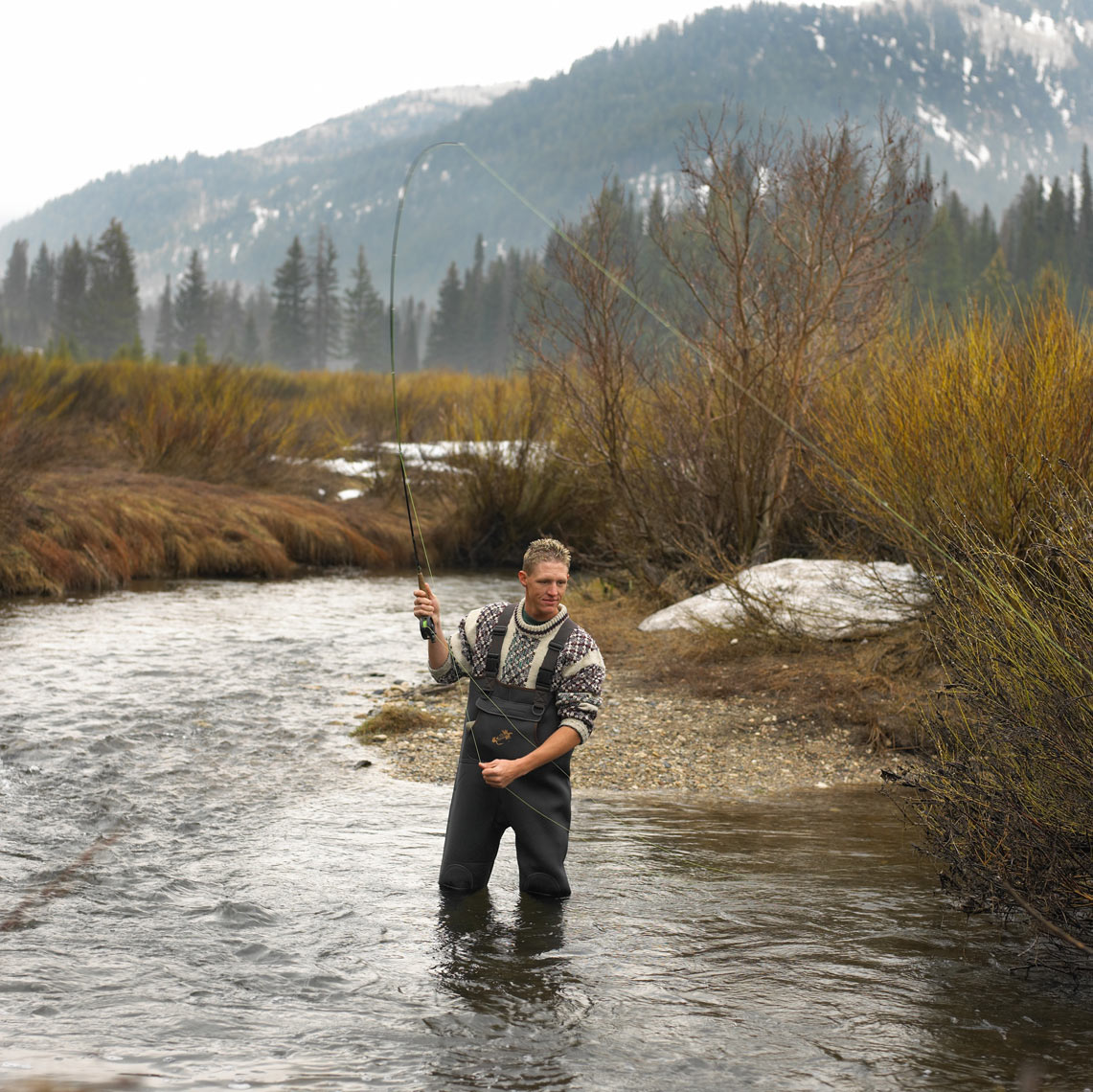 Man fly fishing/stream/Utah/mountains/lifestyle photography