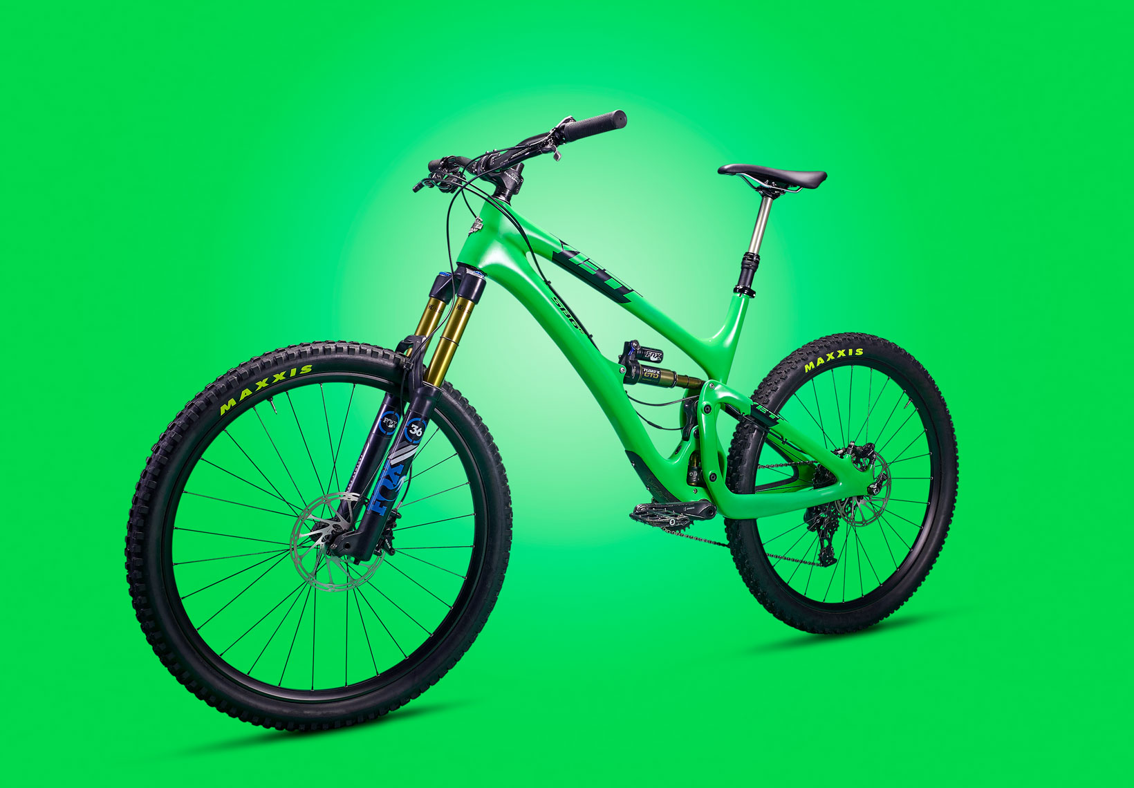 YETI BIKE/green bike on green background/product photography/InsideOut Studios