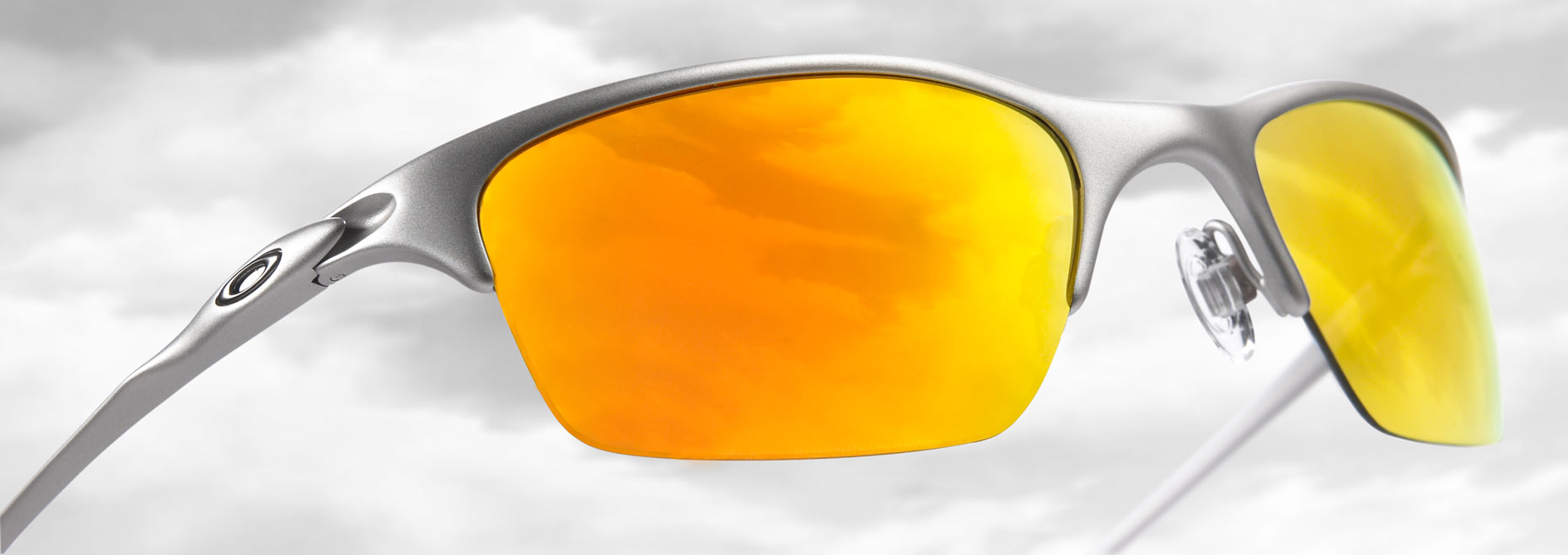 Oakley/yellow shades/sky reflection/product photography