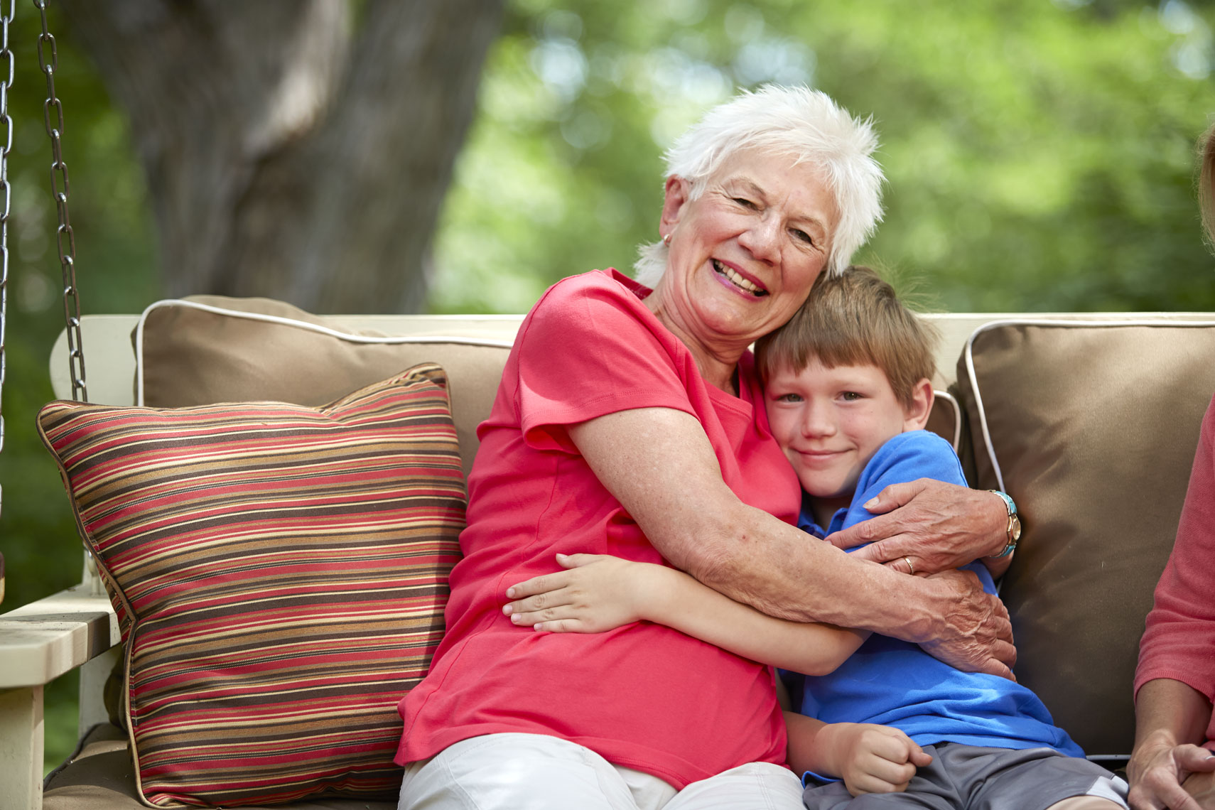 Grandma and grandson/hugging//lifestyle photo