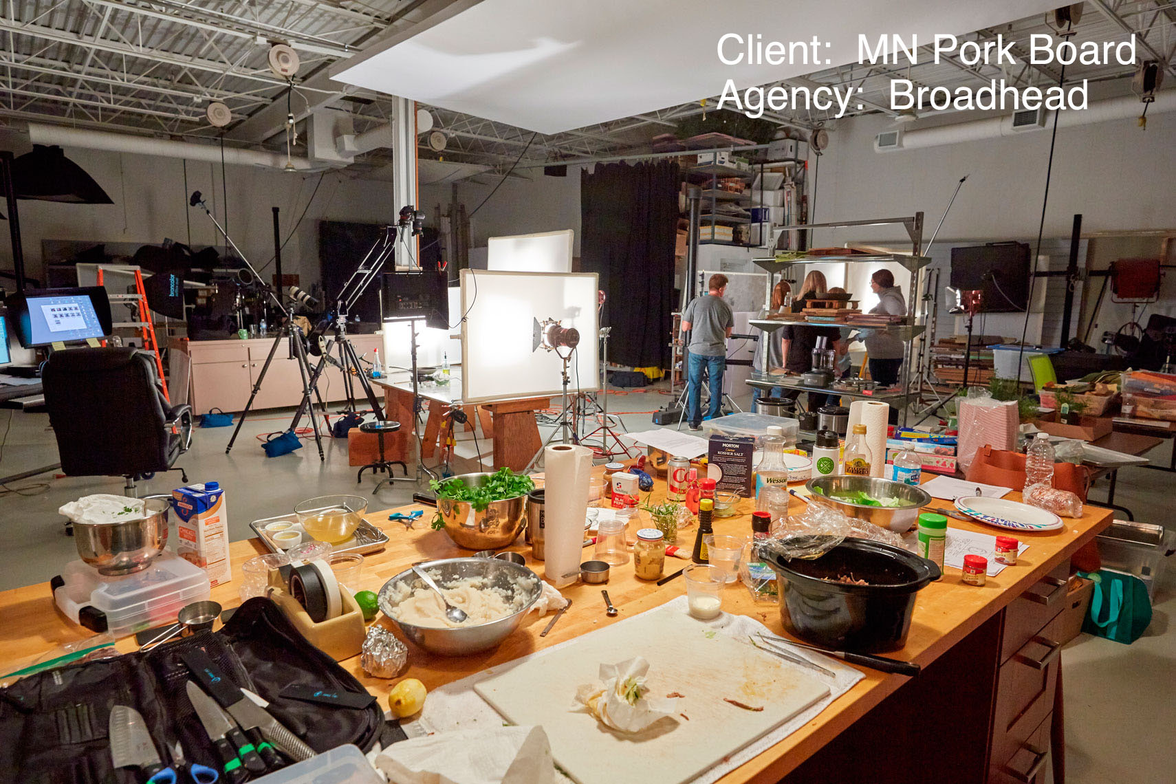 Behind the scenes/food photo shoot/MN Pork Board