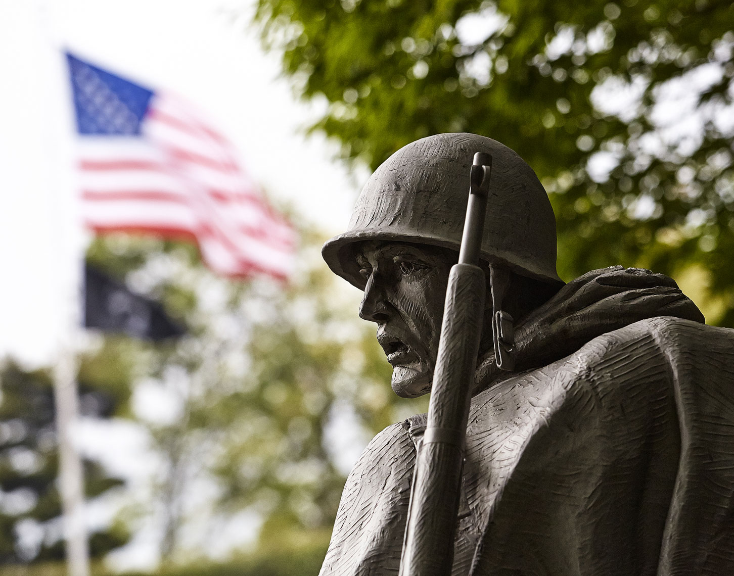 American soldier/statue/Korean memorial/Honor Flight