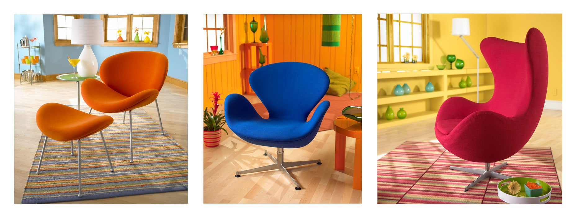 Chairs/multi color/studio sets/product photography