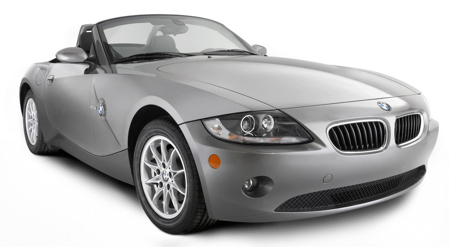 BMW grey car/white background/studio photo