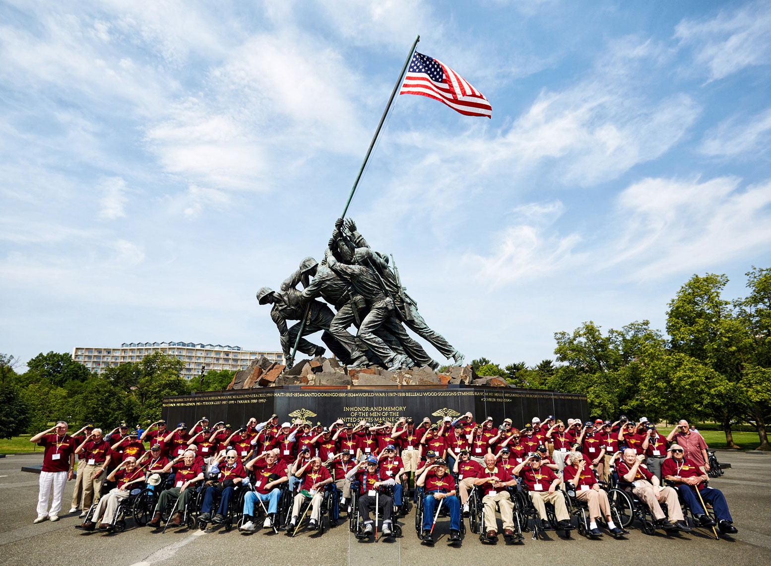 Vets/Iwo Jima/group/Honor Flight/Wash D.C.