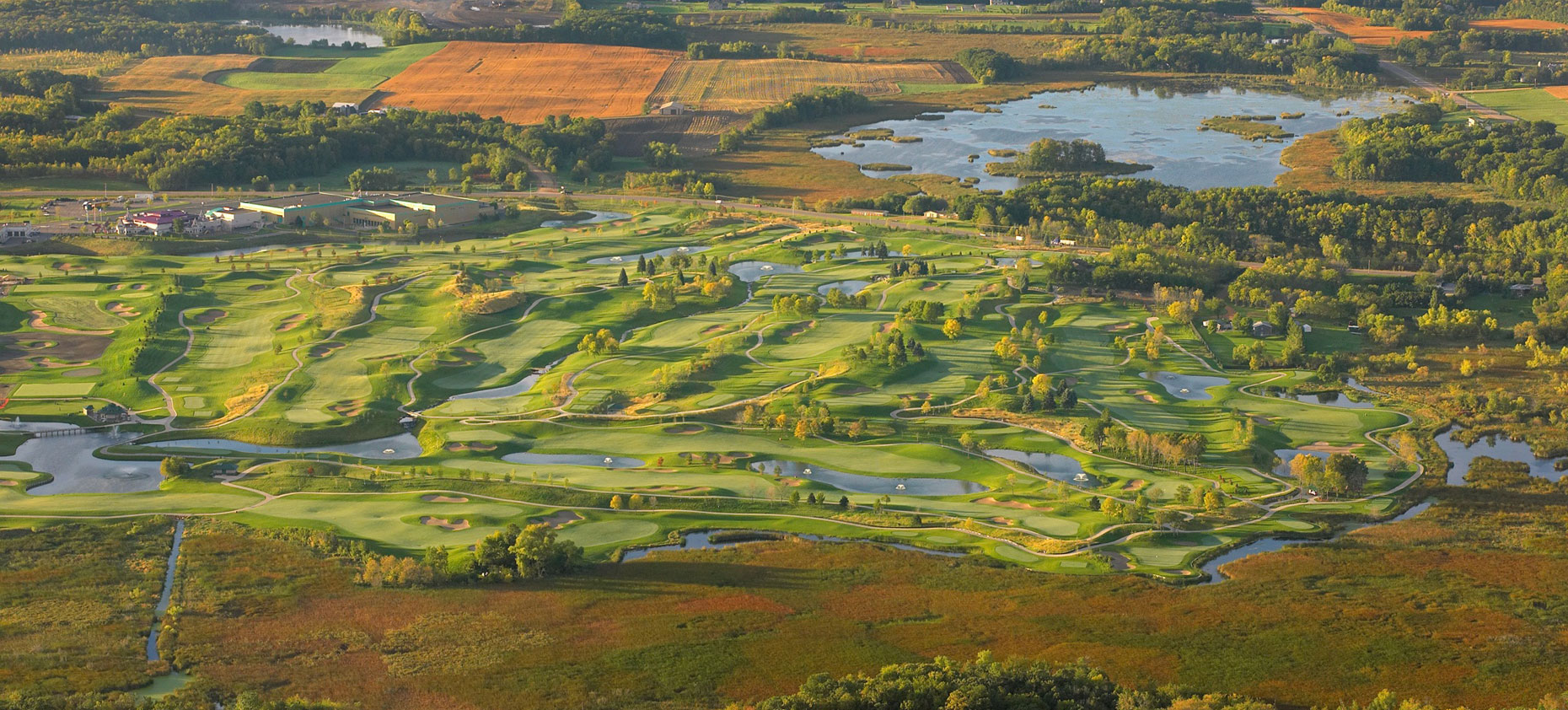 Mystic Lake golf course/summer/aviation photography