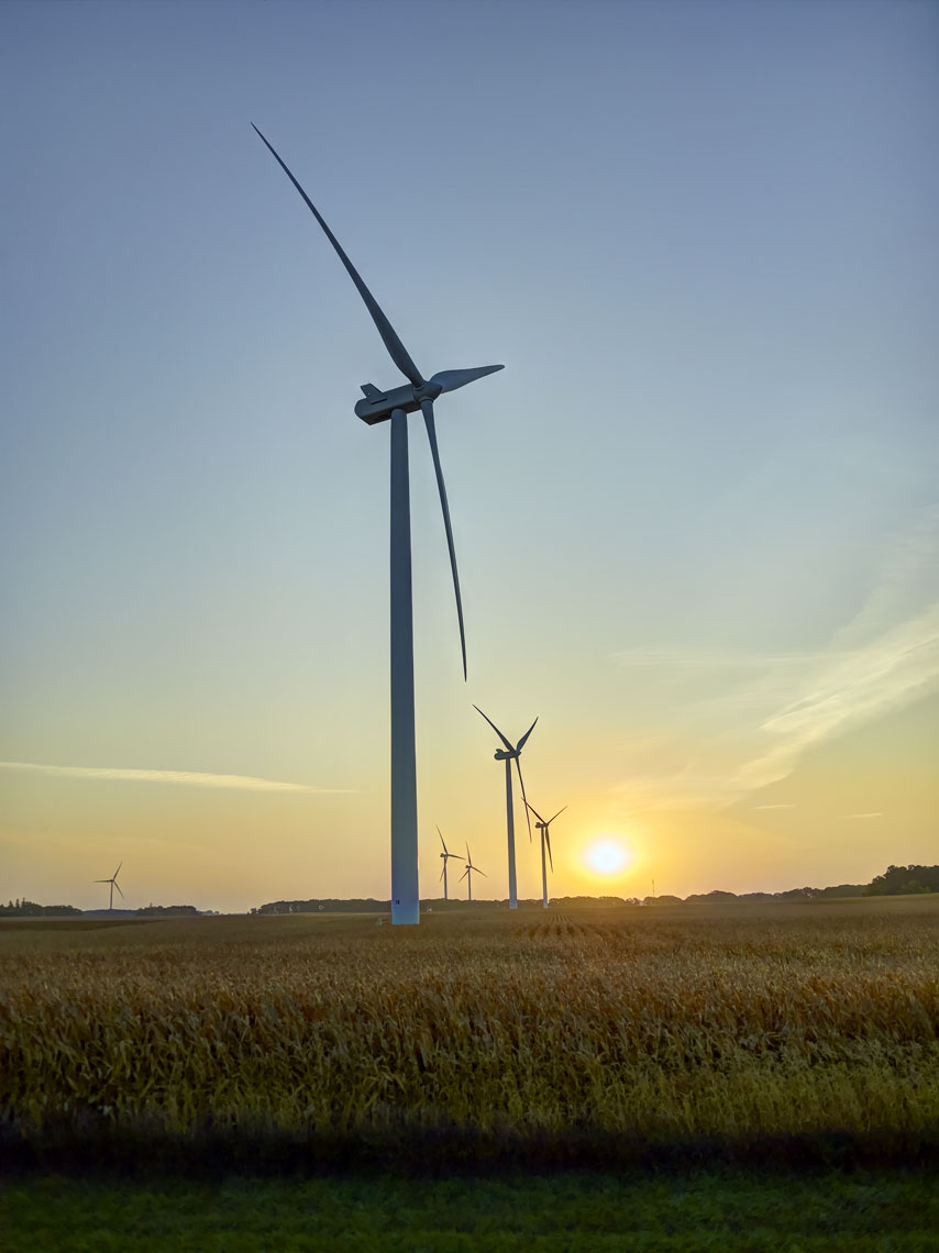 Oak Glen/wind turbines/field/sunset/agricultural photography/InsideOut Studios